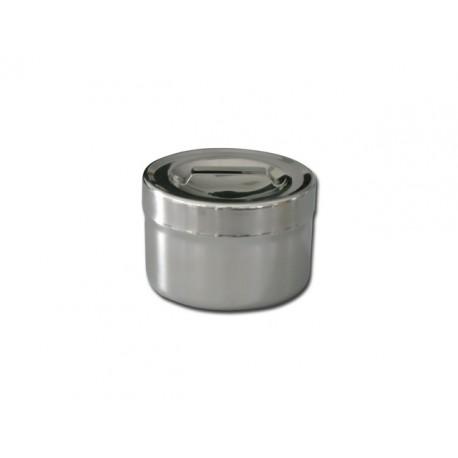 BOÎTE POUR PANSEMENT - inox - 0.5 l - Ø 102 x 65 mm