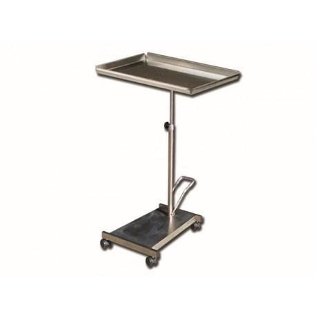 TABLE MAYO - base en inox avec pompe
