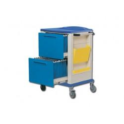 CHARIOT PORTE-DOSSIER - 2 grands tiroirs