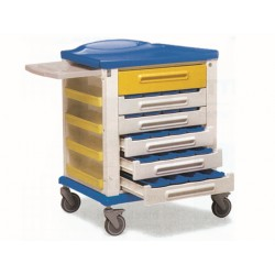 CHARIOT À MÉDICAMENTS - standard - 20 tiroirs à 3 compartiments