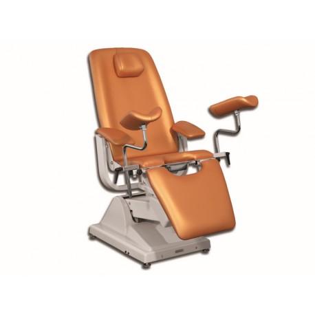 FAUTEUIL GYNÉCOLOGIQUE GINEX PROFESSIONNEL - métal abricot