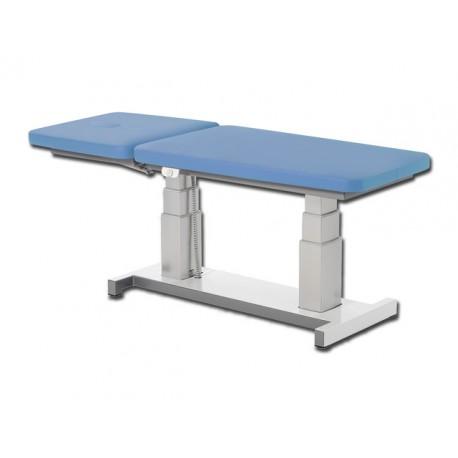 table d 39 examen r glable en hauteur alux bleu clair mat riel m dical. Black Bedroom Furniture Sets. Home Design Ideas