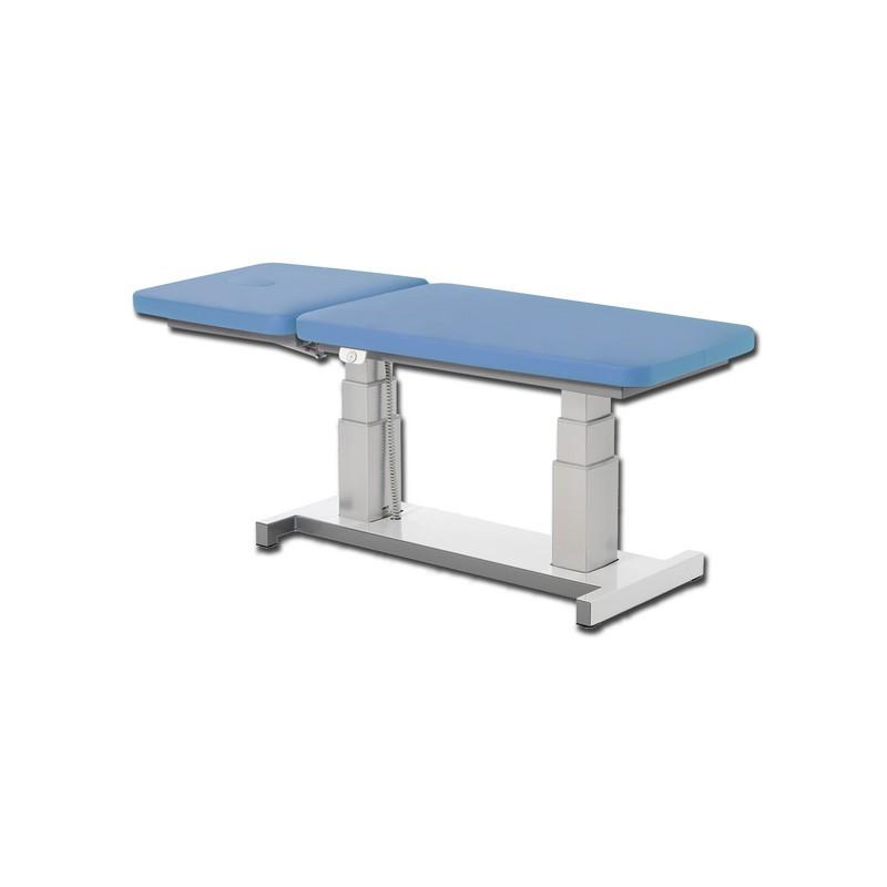 table d 39 examen r glable en hauteur alux bleu clair. Black Bedroom Furniture Sets. Home Design Ideas