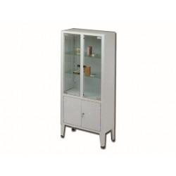 ARMOIRE - 4 portes - 3 étagères - verre tempéré