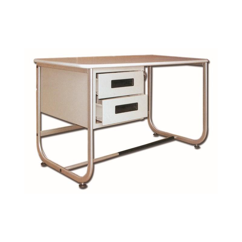 bureau 130 x 71 cm avec 2 tiroirs mat riel m dical. Black Bedroom Furniture Sets. Home Design Ideas