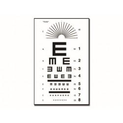 """TABLEAU OPTOMÉTRIQUE TUMBLING """"E"""" 28 x 56 - 6.1 m"""