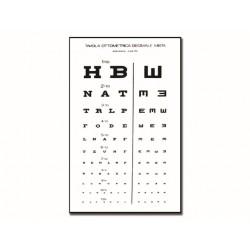 TABLEAU OPTOMÉTRIQUE DÉCIMAL MIXTE 28 x 56 - 6.1 m