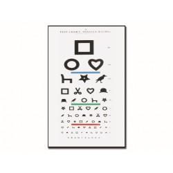 TABLEAU OPTOMÉTRIQUE DE TEST D'ILLETTRISME EWING 28 x 56 - 6.1 m