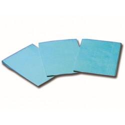 SERVIETTES PLIÉES 33 x 45 cm - bleu clair