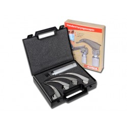 SET LARYNGOSCOPE 4 LAMES - Lame Mc Intosh 1-2-3-4 - adulte