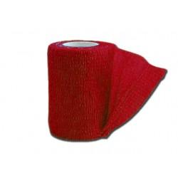 BANDE ÉLASTIQUE COHÉSIVE TNT - 4.5 m x 7.5 cm - rouge