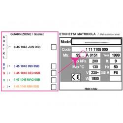 JOINT POUR AUTOCLAVE H100 - numéro de série A,D,E,F,K,L