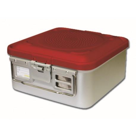 RÉCIPIENT STANDARD 280 x 280 x 100 mm - 1 filtre - n.p - rouge