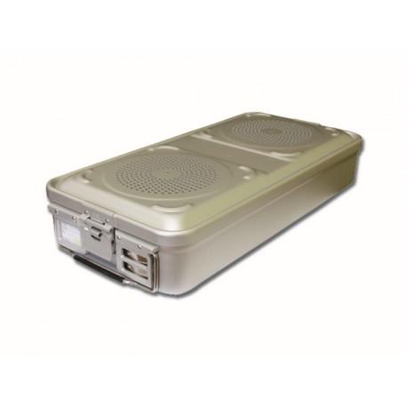 RÉCIPIENT STANDARD 580 x 280 x 100 mm - 2 filtres - n.p - gris