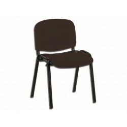 CHAISE ISO - similcuir - noir
