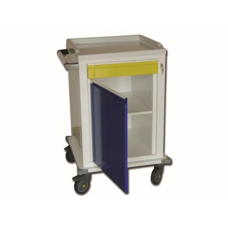 CHARIOT MODULAIRE - peint - 1 tiroirs + 1 étagère